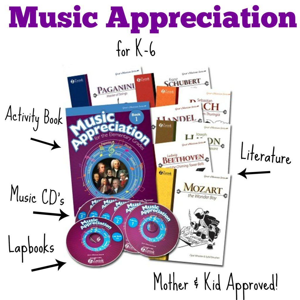 Zeezok Music Appreciation Curriculum for k-6
