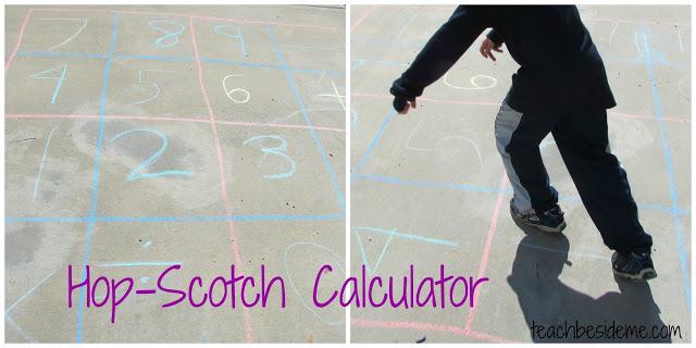 Hopscotch Calculator math game
