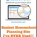 Homeschool Planning with LessonTrek (Giveaway!)