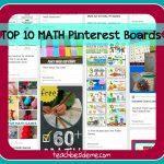 Top 10 Math Pinterest Boards