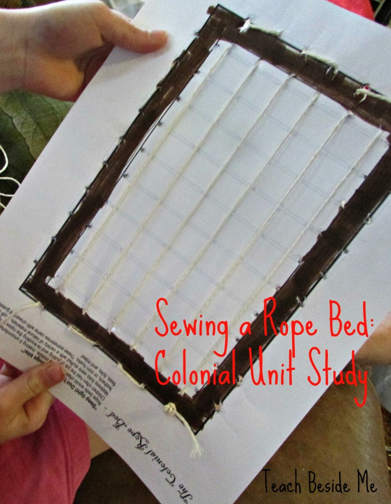 sewing a rope bed- colonial unit study