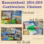 Homeschool Curriculum Choices: Pre-K, 2nd, 4th