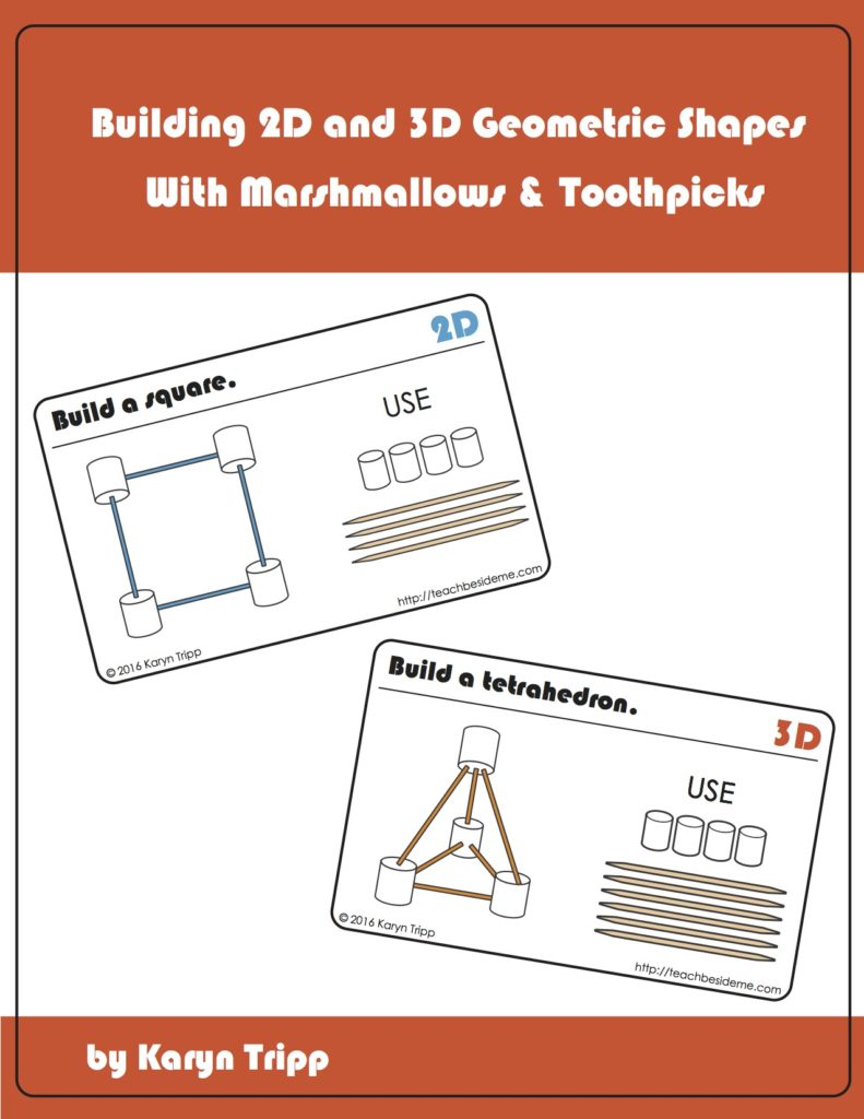 image about Building With Toothpicks and Marshmallows Printable identified as Marshmallow and Toothpick Geometry Playing cards Coach Beside Me