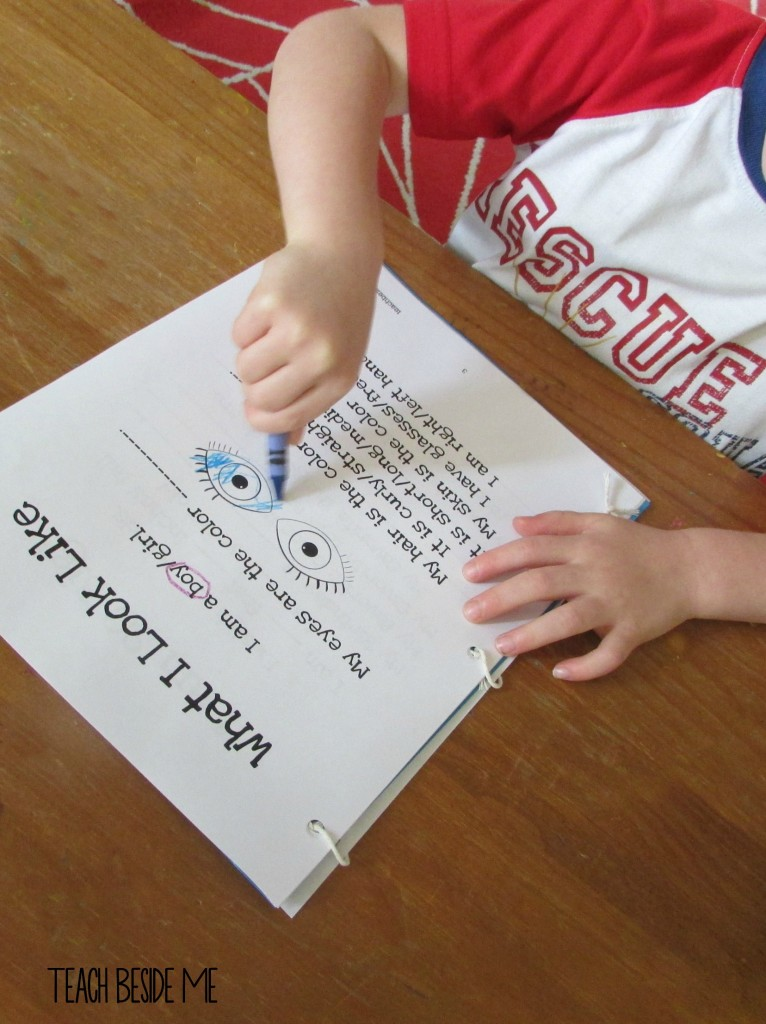 Preschool about me book