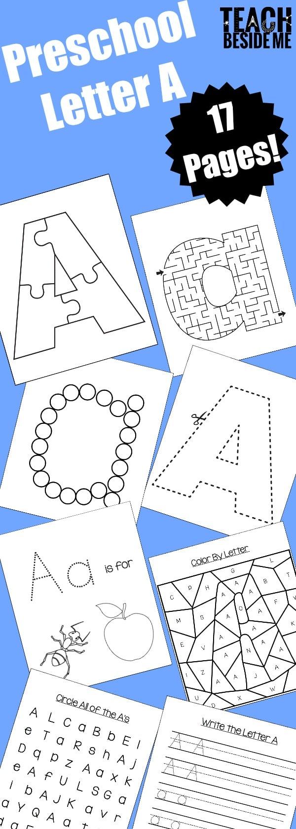 letter a preschool