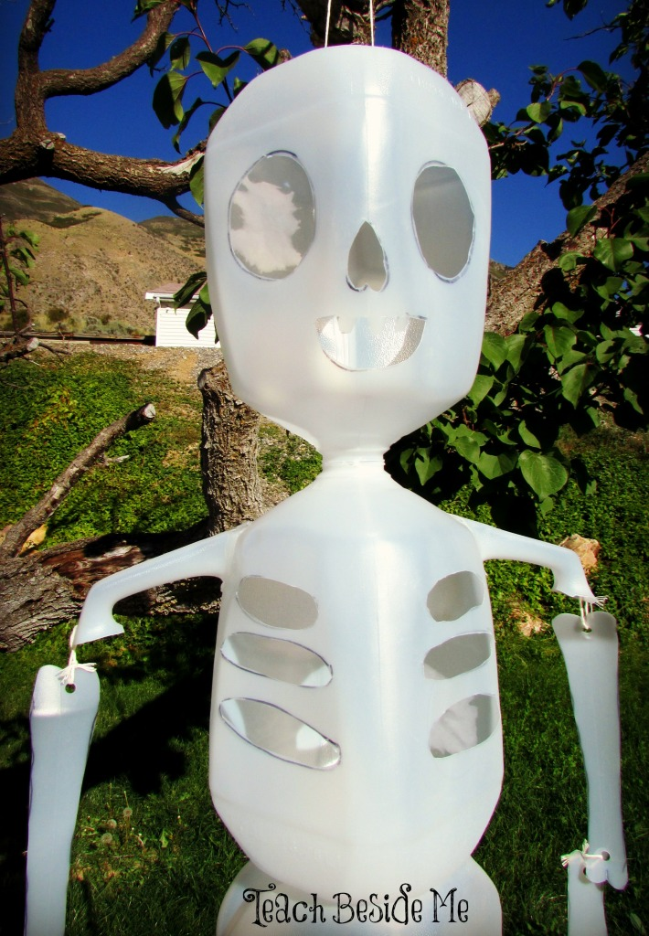 Skeleton Man from Milk Jugs