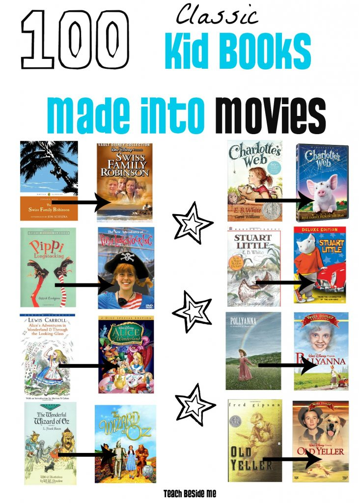 100 Classic Kid Books Made into Movies