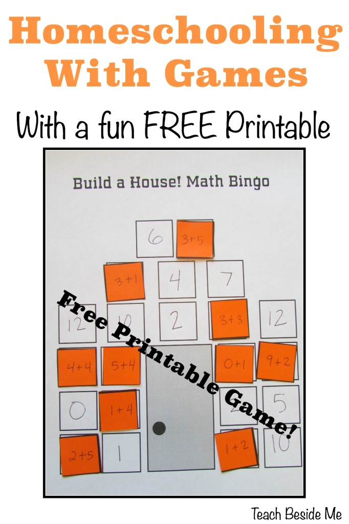 photo relating to Math Bingo Printable called Homeschooling With Video games (With a Absolutely free Math Sport!) Train