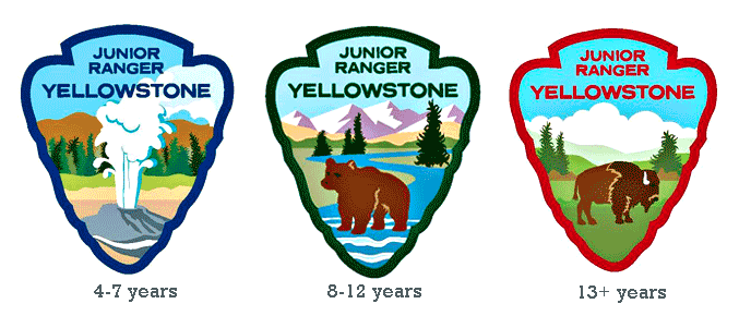 Yellowstone Jr Ranger Patches