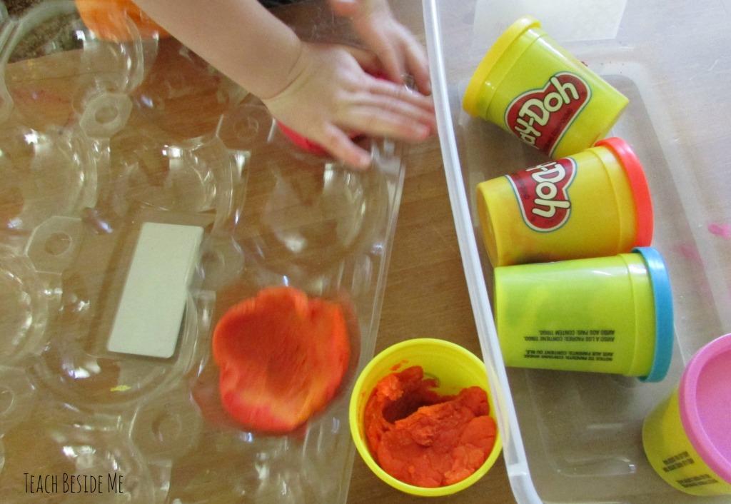 play dough shaping