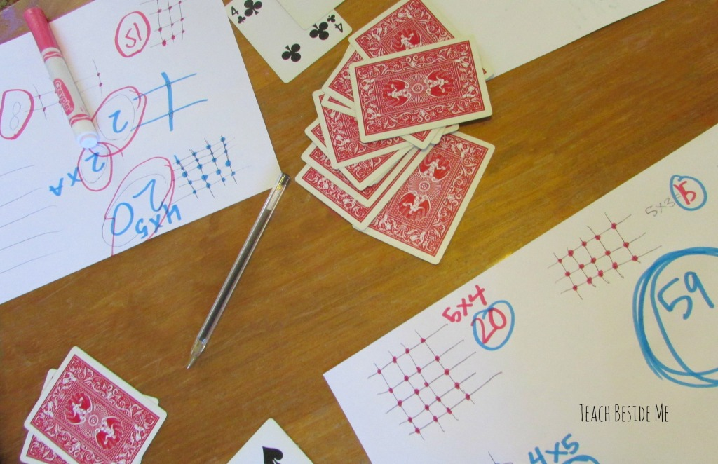 Card game to practice math