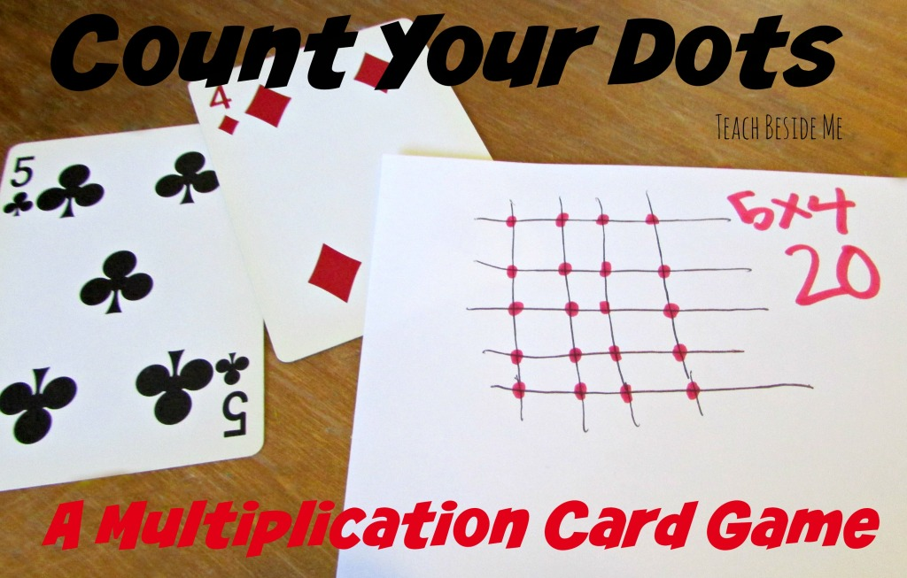 Multiplication Card Game- Count Your Dots