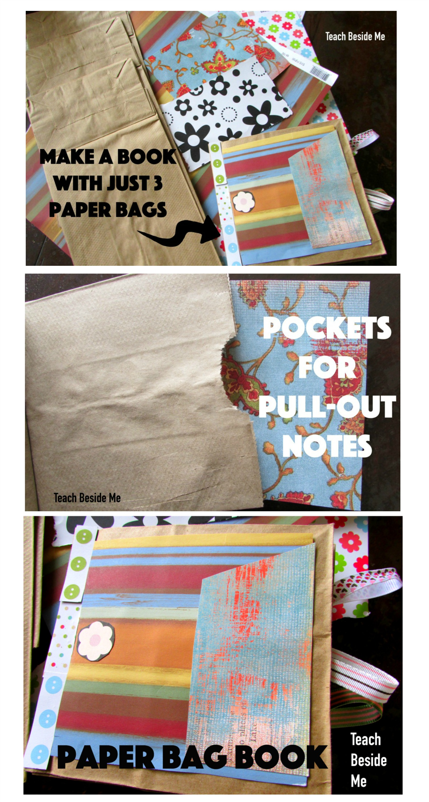 How To Make A Book Cover Out Of A Paper Bag ~ Paper bag book craft u2013 teach beside me