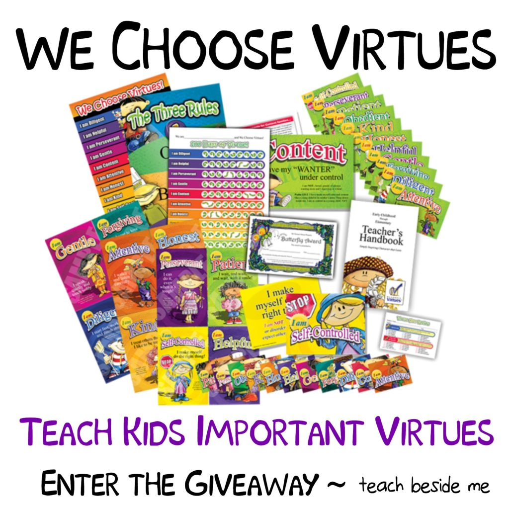 We Choose Virtues Homeschool giveaway
