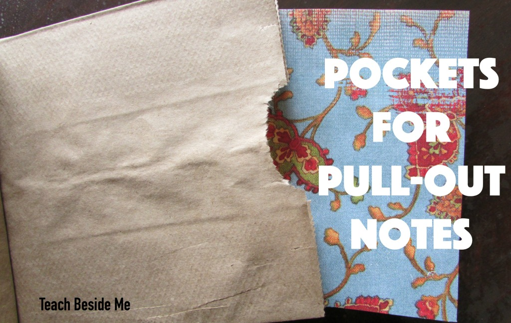 pockets for pull-out notes