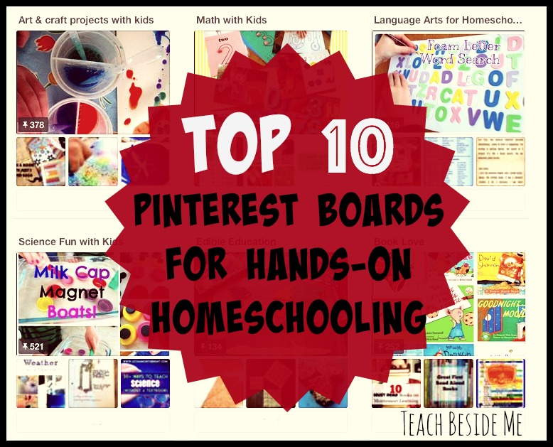 10 Pinterest Boards for hands-on-homeschooling