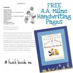 A. A. Milne Lesson & Free Handwriting Pages!