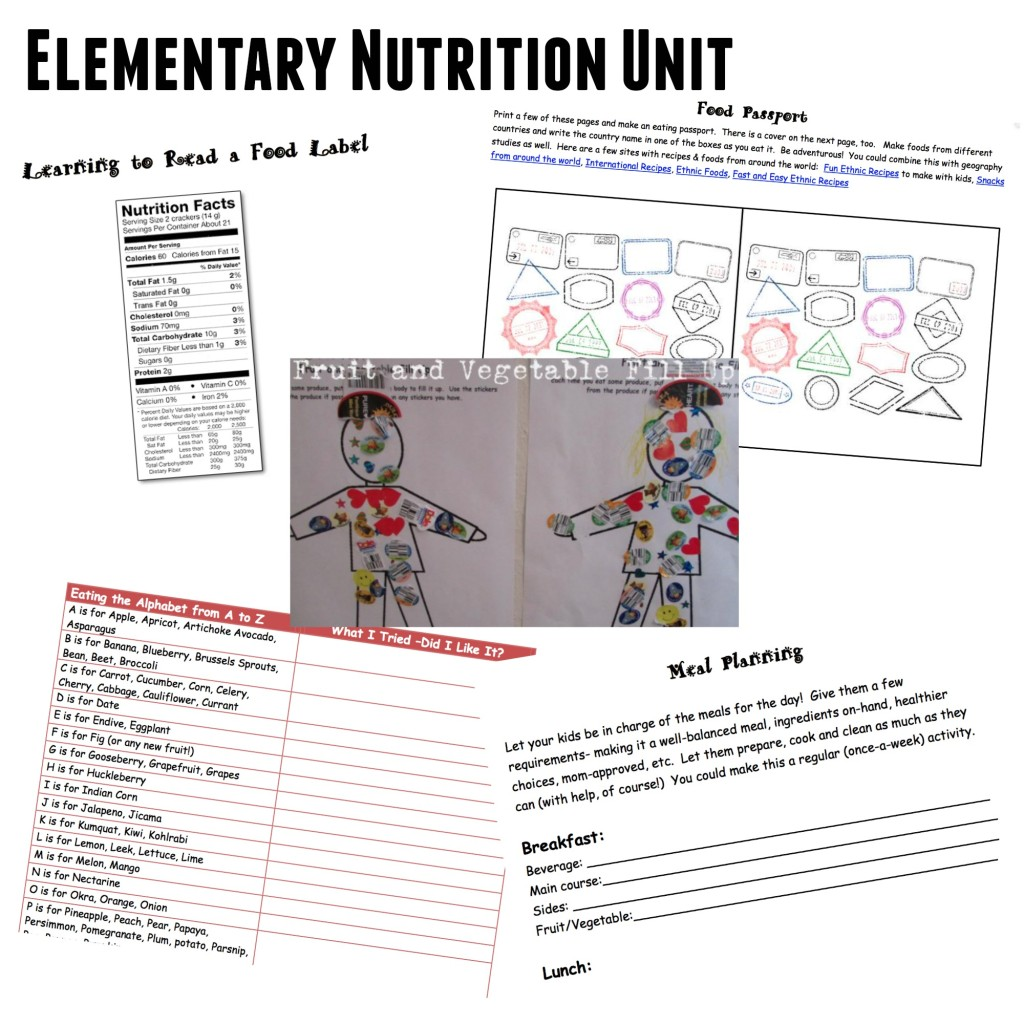 Food and Nutrition Unit - Teach Beside Me
