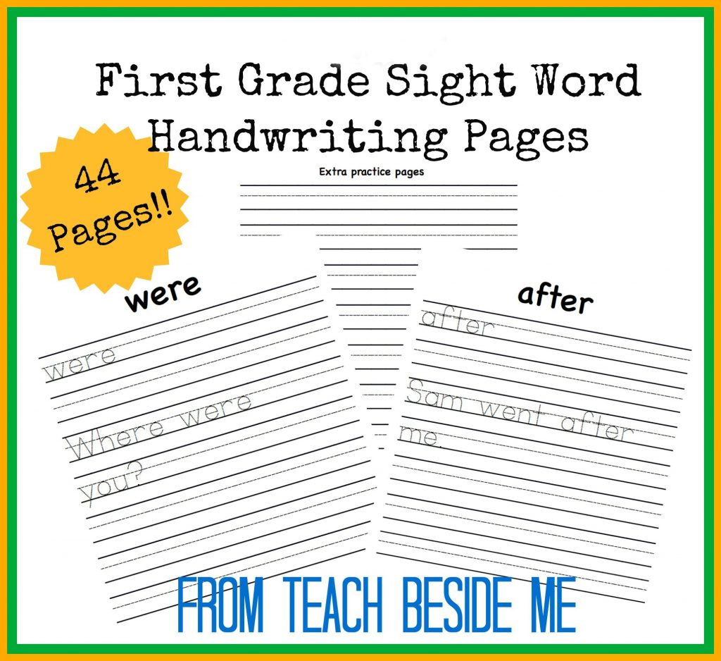 Printable free first grade worksheets