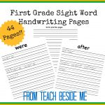 $ First Grade Sight Word Handwriting