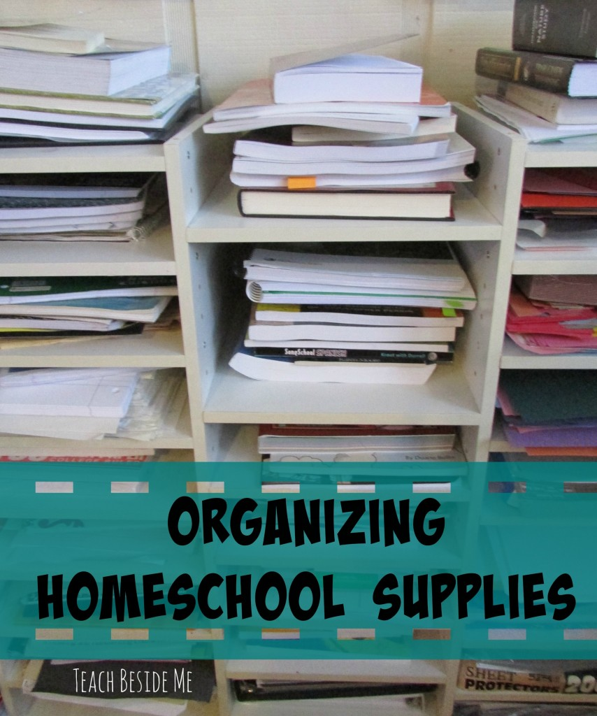 Organizing Homeschool Books and Supplies