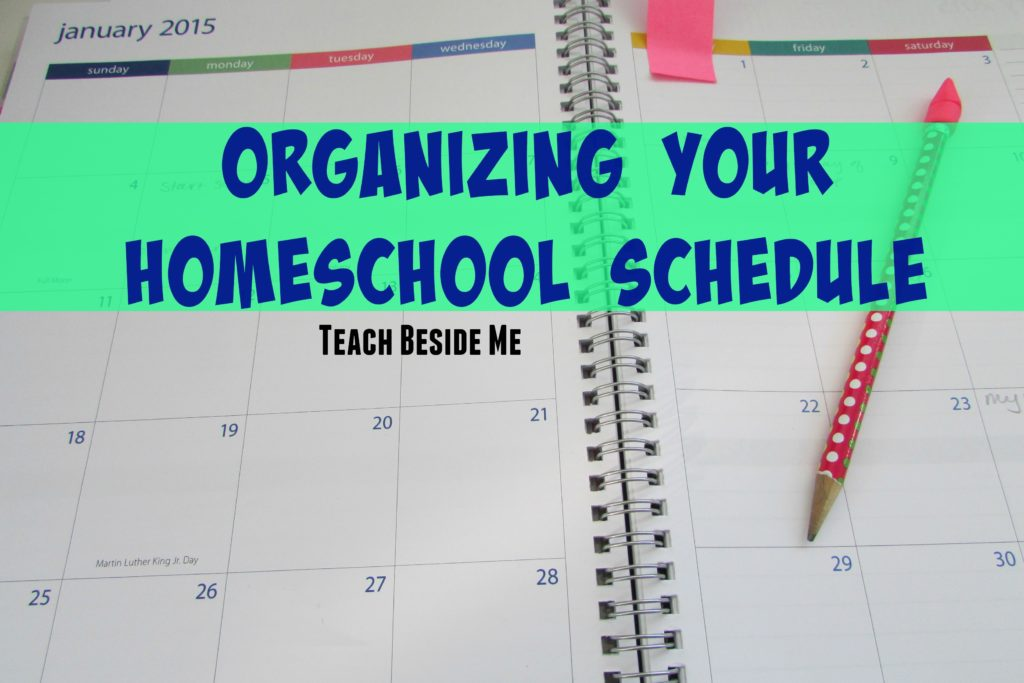 Organizing your Homeschool Schedule