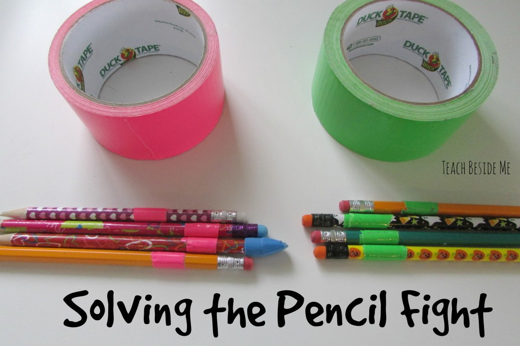 Solving the pencil fight- homeschool organization