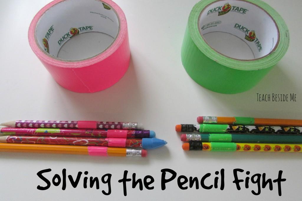 Solving the pencil fight- homeschool organization