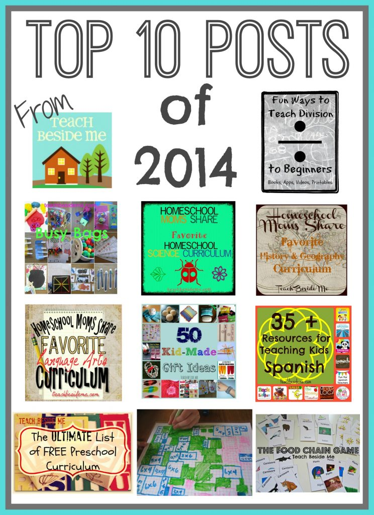 Top 10 posts of 2014 from Teach Beside Me