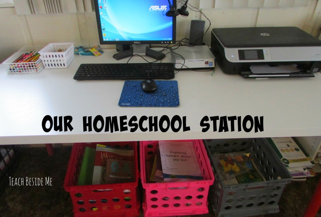 our homeschool station