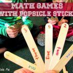 Popsicle Stick Math Games