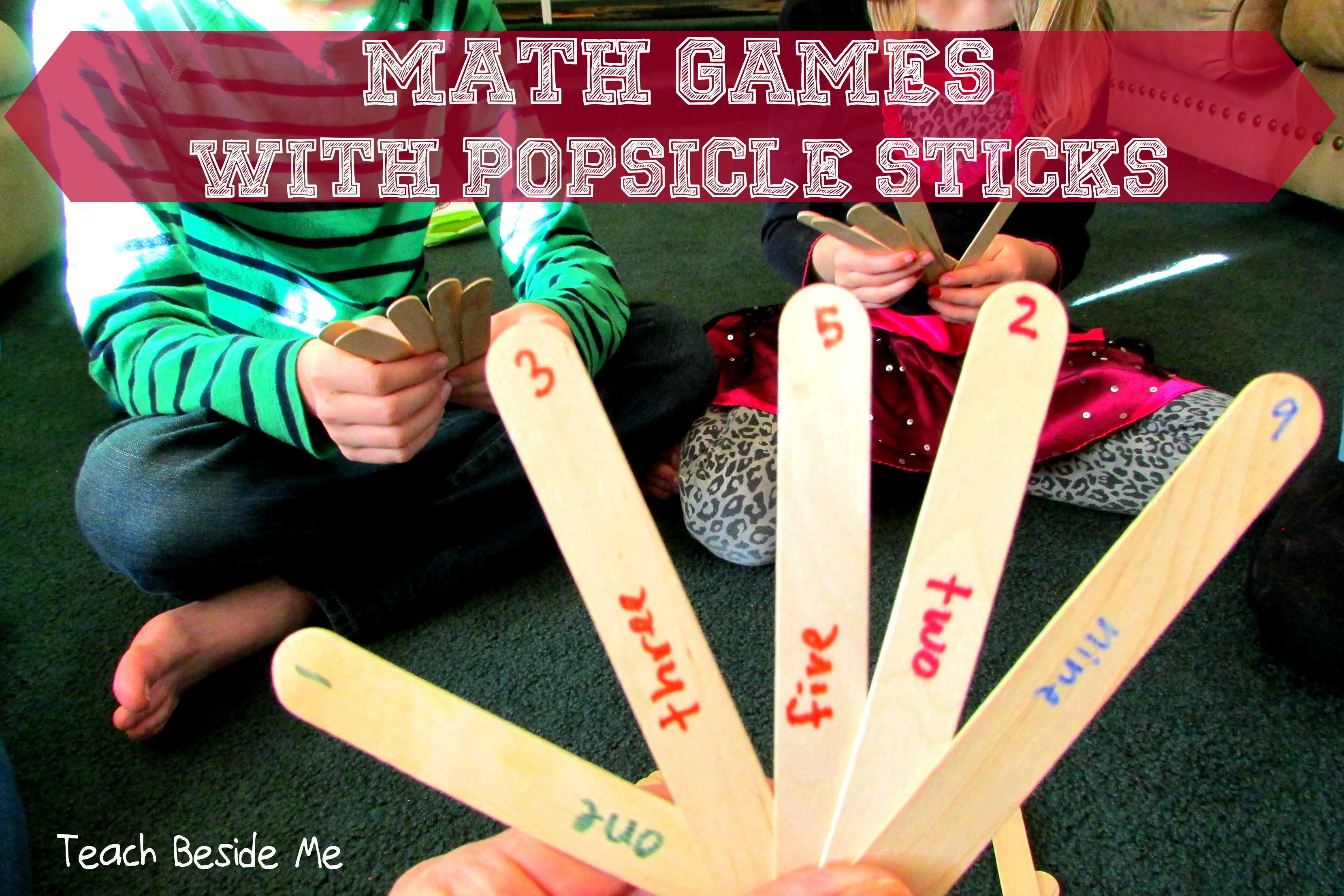 Popsicle Stick Math Games Teach Beside Me