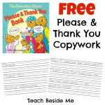 Please and Thank You Copywork