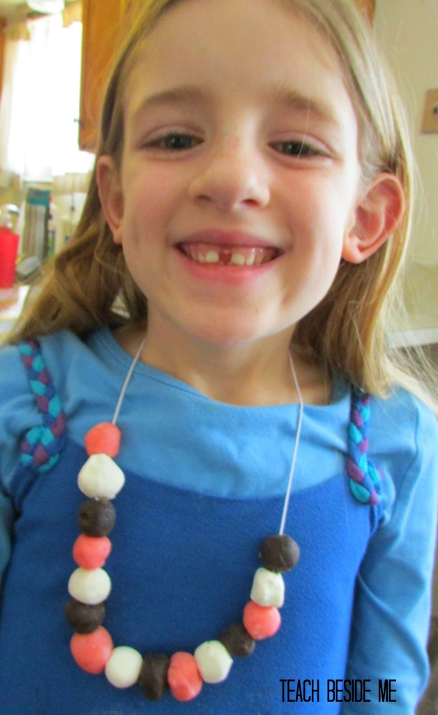 homemade clay candy necklace