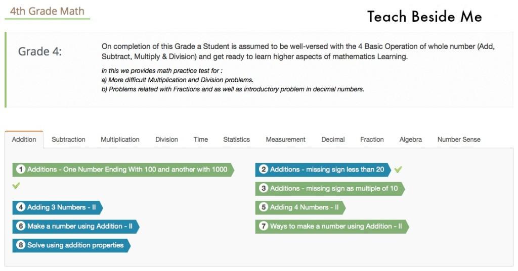 Online Math Practice – Teach Beside Me