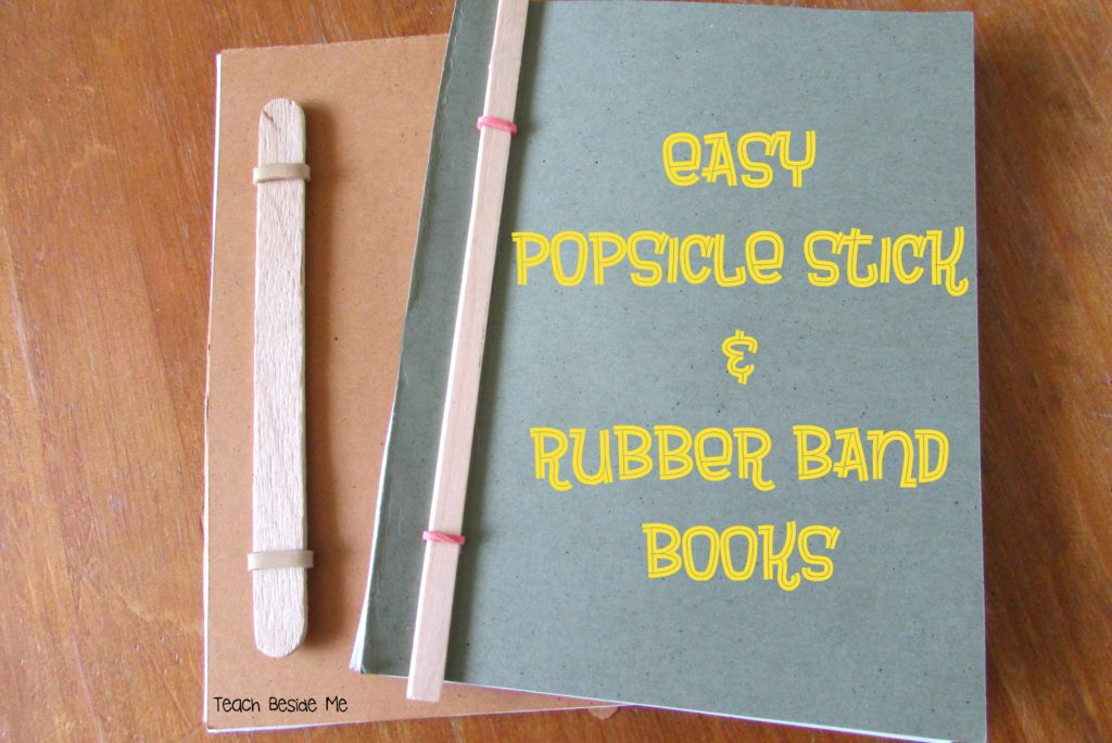 Easy Homemade Popsicle Stick Rubber Band Books