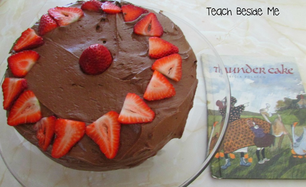 Thunder Cake Book & Recipe from Teach Beside Me