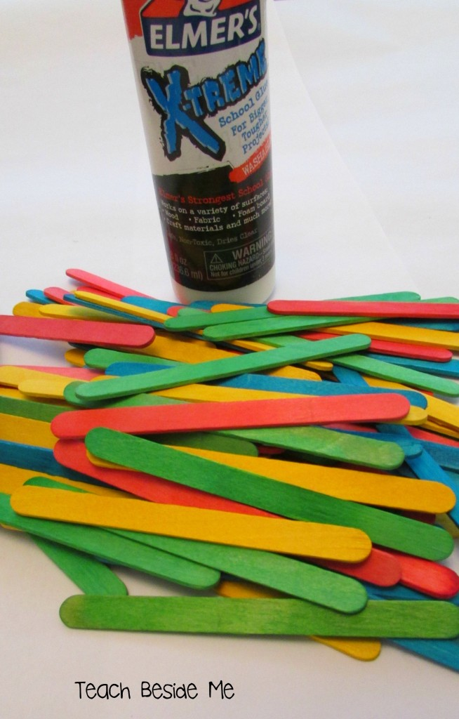 glue and popsicle stick project