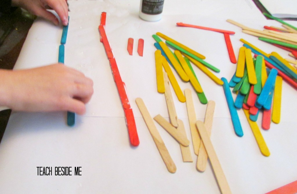 making a popsicle stick bridge