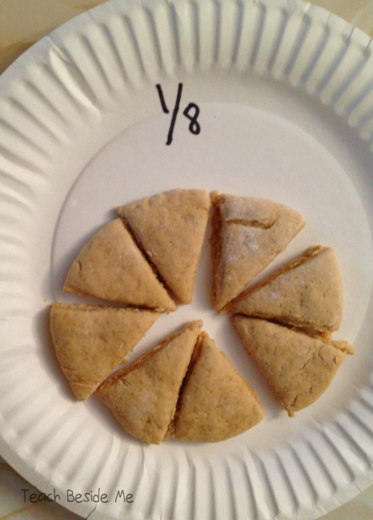 one-eighth fraction cookie