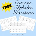 FREE Cursive Alphabet Worksheets from Teach Beside Me