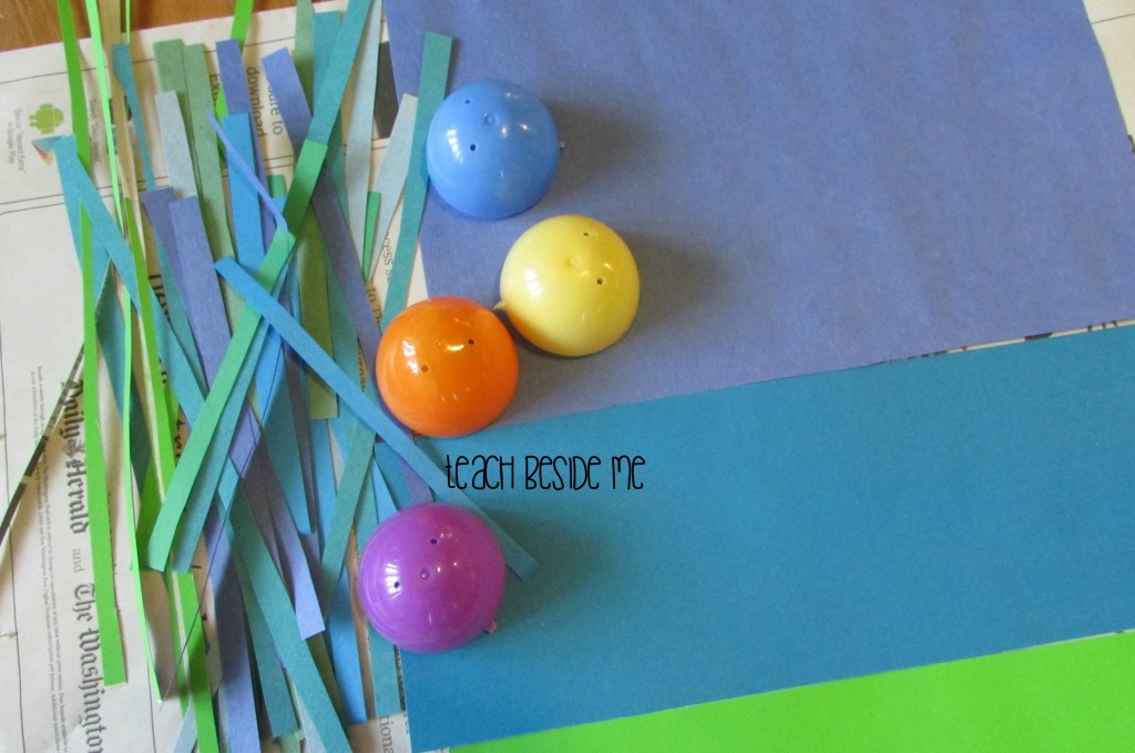 Leftover easter egg craft idea