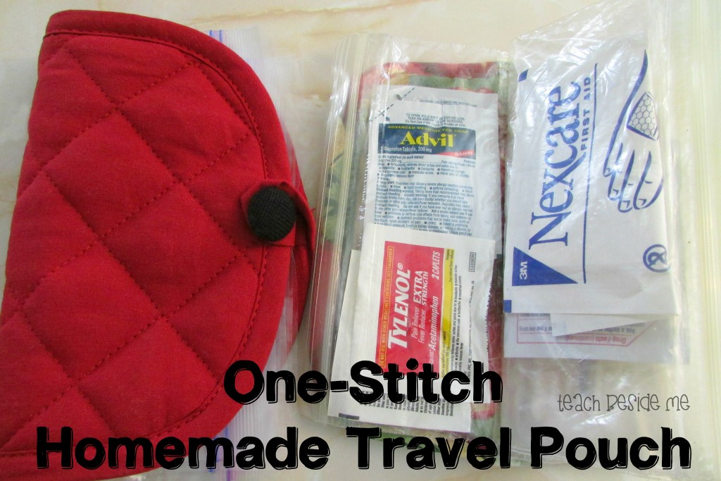One-Stitch Homemade Travel Pouch from Teach Beside Me