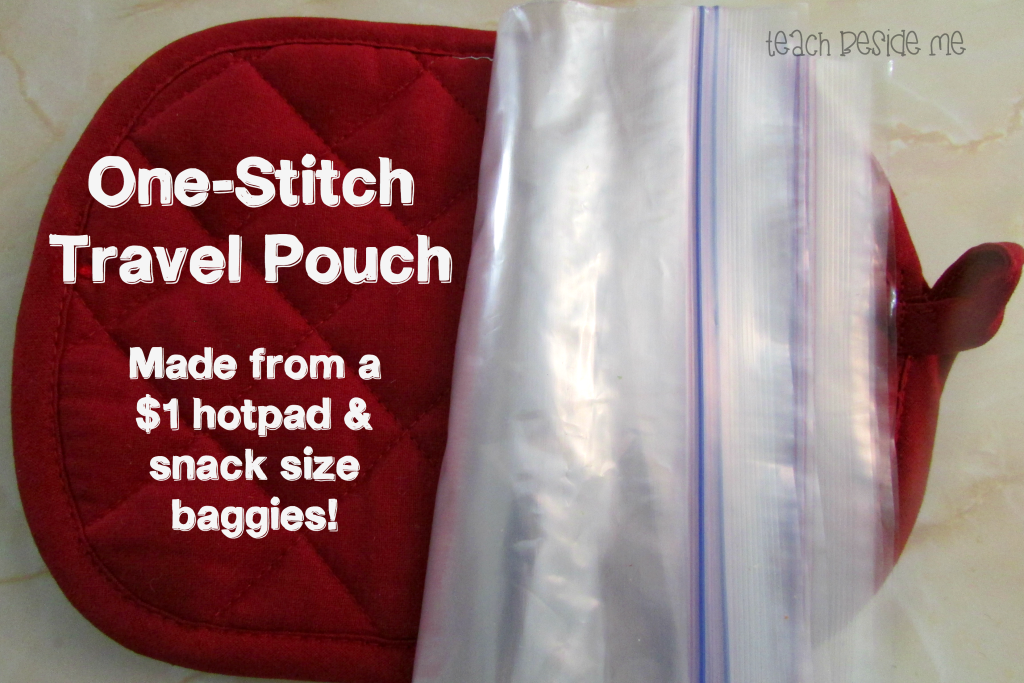 One-stitch Travel Pouch from Teach Beside Me