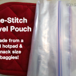 Homemade Travel Pouch (One-Stitch!)