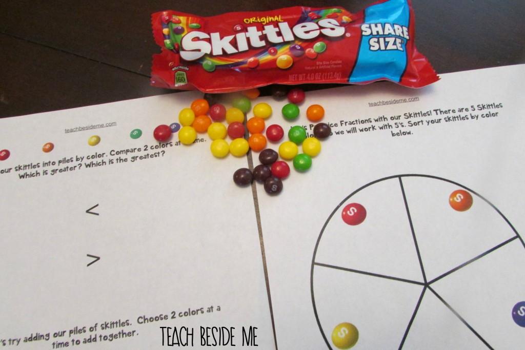 Skittles math printables