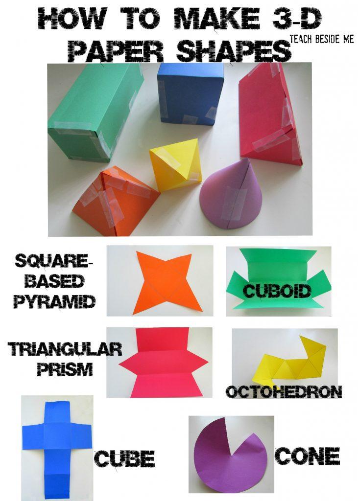 3d Paper Shapes Teach Beside Me