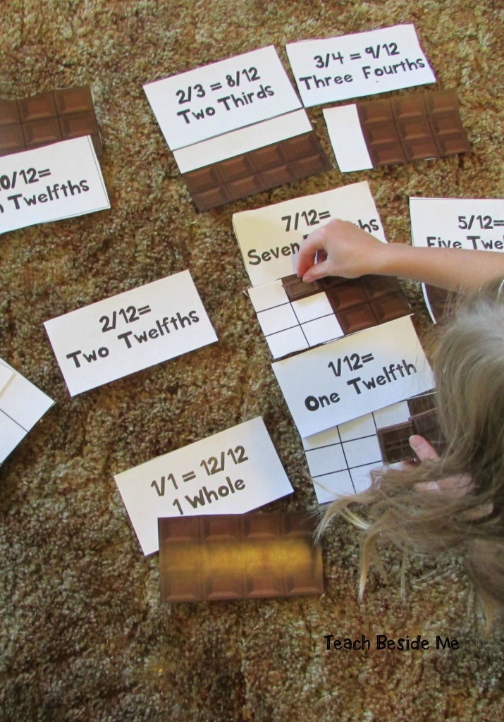 Fractions with candy bars