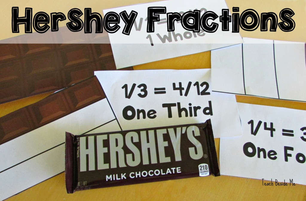 math worksheet : hershey fractions printable cards  teach beside me : Hershey Bar Fraction Worksheet