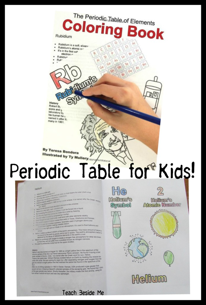 Learning the periodic table teach beside me periodic table of elements coloring book urtaz Images